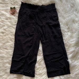 Terra & Sky Cropped Black Pants Size 0X 14W